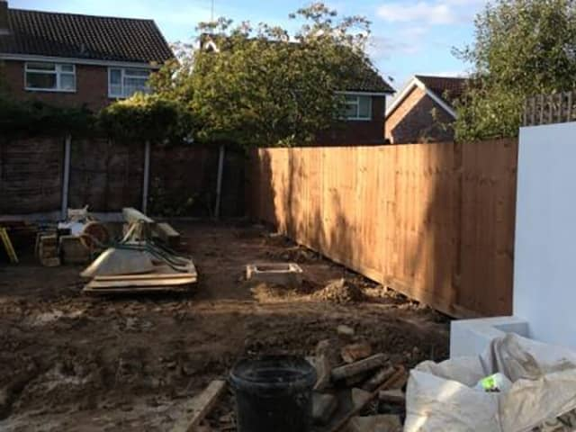 Garden Levelling Project